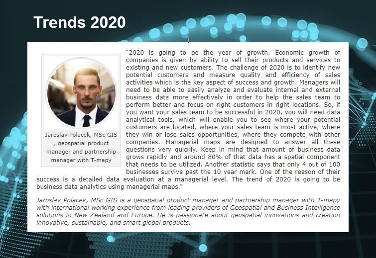 Jaké jsou globální mapové trendy pro rok 2020?